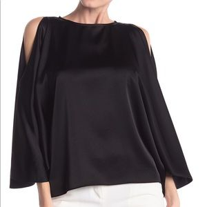 Ramy Brook Tiffany Cold-Shoulder Satin Blouse